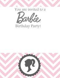 Sew Darn Cute Barbie Birthday Free Template Invitaciones De