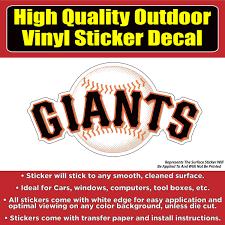 San Francisco Giants Baseball Team Vinyl Car Window Laptop Bumper Stic Colorado Sticker