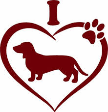 Dachshund Pet Animal Wiener Dog Heart Paw Car Truck Window Vinyl Decal Sticker Dogpaw Vinyl Wiener Dog Cricut Projects Vinyl