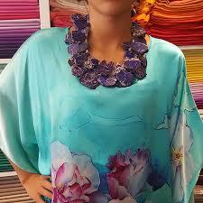 silk fl tunic handmade jewellery