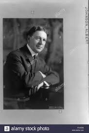 Albert Johnson, half length portrait, seated Stock Photo ...