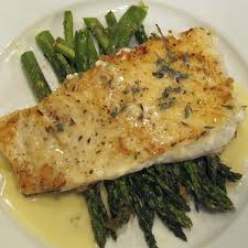 Baked Halibut with Lemon Butter Sauce ...