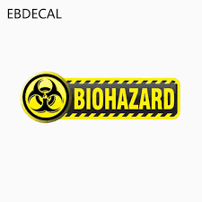 Ebdecal Sticker Biohazard Sign Reflective For Auto Car Bumper Window Wall Decal Sticker Decals Diy Decor Ct5825 Car Stickers Aliexpress