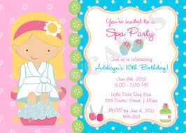 Spa Birthday Party Spa Party Birthday Invitation Diy Print