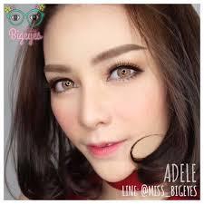 คอนแทคเลนส์Adele brown | Shopee Thailand