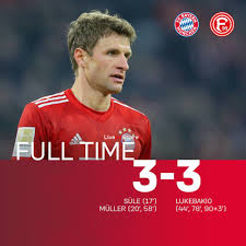 FC Bayern München 3-3 Fortuna Düsseldorf Full Highlight Video ...