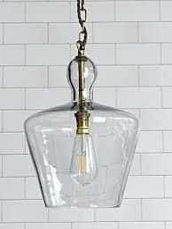 clear blown glass pendant lights a