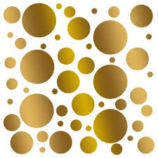 Set Of 100 Polka Dot Circles Vinyl Wall Decals Stickers Assorted Siz