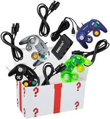 4 Pack Gamecube Controller Bundle - with 4 Extension Cords and a 4-Port  Adapter for/Switch/PC | Gamecube controller, Nintendo switch accessories,  Gamecube