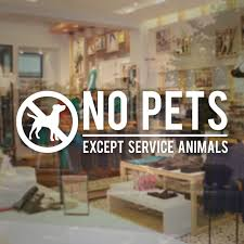 No Pets Allowed Decal Store Decals