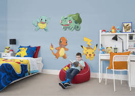 Pokemon Fan Prove It Put Your Passion On Display With A Giant Pokemon Favorites Collection Fathead Kids Room Paint Kids Room Wall Decals Pokemon Wall Decals