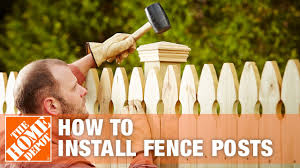 How To Install Fence Posts The Home Depot Youtube