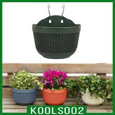 Stocked Koolsoo2 Wall Hanging Flower Pots With Metal Hook Garden Planter For Railing Fence Balcony Garden Home Decoration Shopee Philippines