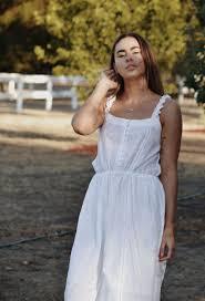 ADELINE WHITE COTTON LACE DRESS – ANKOA