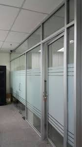aluminium frame office partition wall