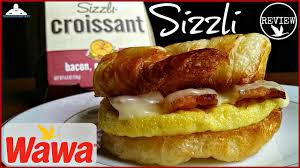 wawa sizzli review bacon egg