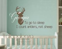 Moose Wall Decal To Go To Sleep I Count Antlers Not Sheep