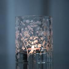 led night light solar candlestick glass