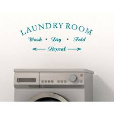 Wall Decor Laundry Room Wash Dry Fold Repeat Letters Vinyl Wall Decals 23x9 Inch Teal Walmart Com Walmart Com