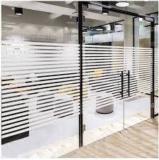 Amazon Com Frosted Window Privacy Film Non Adhesive Static Cling Sticker Etched Glass Effect Frosting Stripes For Home Office Meeting Room Classroom Easy Removal No Residue Stripes 17 7 X 78 7 Inches Home