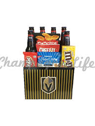 vegas golden knights beer basket