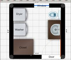 washer and dryer bathroom design