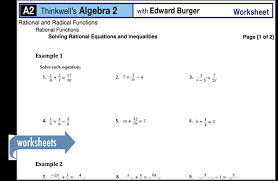 algebra 2 math course
