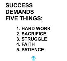 demands things success demands millionmiler faith leadership
