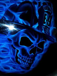 pics blue skull wallpapers scary