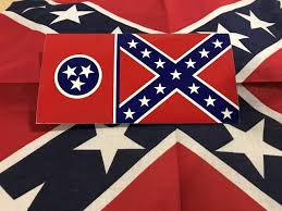 Tennessee Rebel Flag Sticker