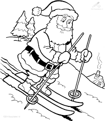 1001 Kleurplaten Kerst Kerstman Kerstman Kleurplaat