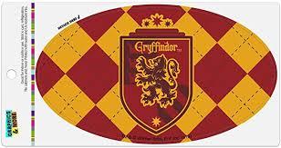 Amazon Com Graphics And More Harry Potter Gryffindor Plaid Sigil Automotive Car Refrigerator Locker Vinyl Euro Oval Magnet Automotive