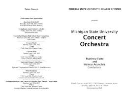 Concert Orchestra - MSU College of Music - Michigan State University