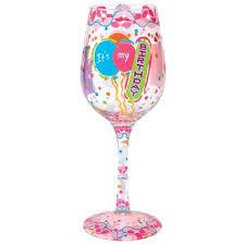 wine glass its my birthday by