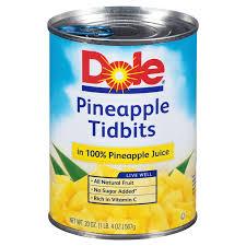 dole pineapple tidbits in juice 20 oz