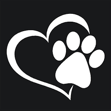 Vet Tech Love The Dog Paw Print Window Decoration Decal Car Stickers Azbetter