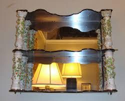 antique mirrored wall shelf vintage uk