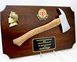 firefighter a and axe plaques
