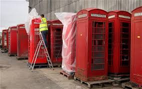 inside the red phone box graveyard