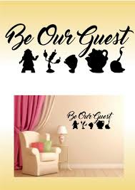 Beauty And The Beast Disney Inspired Wall Art Sticker Decal Etsy