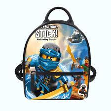 College Student Mini School Bag Women Backpack 3D Ninjago Games ...