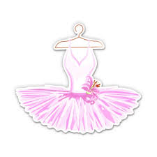 Ballerina Tutu Cute Ballet Dress 8 Vinyl Sticker For Car Laptop I Pad Waterproof Decal Walmart Com Walmart Com