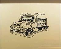 Dump Truck Car Wall Decal Auto Wall Mural Vinyl Stickers Boys Ro