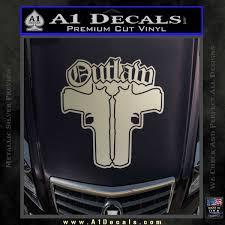 Outlaw Guns Decal Sticker Thug Life A1 Decals