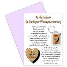 husband 22nd wedding anniversary card