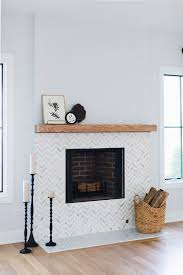 fireplace tile fireplace chevron marble