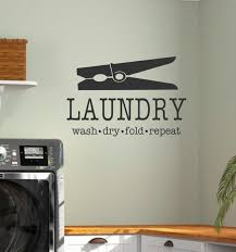 Laundry Vinyl Wall Decal Laundry Wash Dry Fold Repeat With Etsy