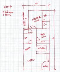 open house plan for a small 20 wide