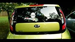 Amazon Com Hockey Masked Machete Killer Wipertags With Decal Attaches To Rear Vehicle Wiper Accessory All Weather Resistant And Uv Protected Quality Made In Usa Kitchen Dining