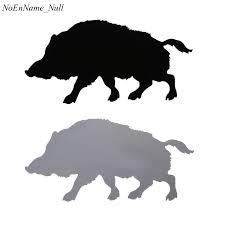 1pc Wild Boar Pig Vinyl Car Sticker Car Styling Animal Silhouette Decorative Car Decal 20x10cm Car Stickers Aliexpress